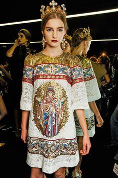 Backstage Dolce & Gabbana Winter 2014 @Milan De Vito Fashion Week