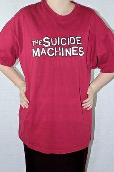 9bc6bcb0 Items similar to SALE 90s Suicide Machines XL 1996 Destruction by Defintion  Punk Grunge Shirt Rare Vtg Vintage on Etsy