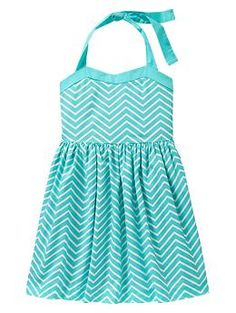 Im so ordering this! Chevron halter dress #Gap