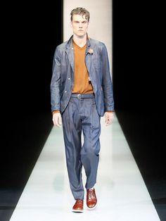 Giorgio Armani Menswear Collection for Spring/Summer 2013 Giorgio Armani, Armani Men, Spring Summer, Parachute Pants, Menswear, Mens Fashion, Collection, Style, Moda Masculina