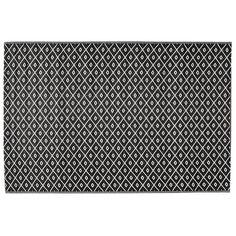 Tapis d'extérieur en polypropylène noir/blanc 120 x 180 cm KAMARI MDM 40.00