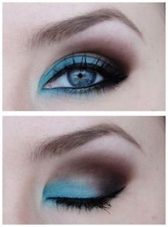 Blue  Brown  Smokey Eye  Makeup