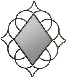 Genet Diamond Hammered Black Metal Interlocking Circle Hanging Wall Mirror By Cooper Classics