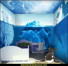 Antarctic ice penguin animal murals 3D stereoscopic television background wallpaper children's bedroom Custom Size