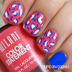 Plump and Polished: Milani Color Statement - Leopard Print Nail Art