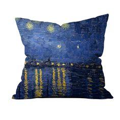 Vincent Van Gogh - Rhone Üzerinde Yazılı Yıldızlı Gece 2 - Kırlentler - Cipcici