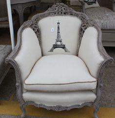 Grey Eiffel Tower Chair
