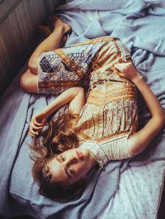 """""""Sunshine Daydream"""" Hedvig Palm for Vogue Australia July 2015 - Prada"""