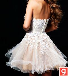 Simple short wedding dress..