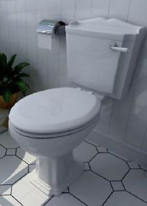 Traditional-Style-Close-Coupled-Victorian-Toilet-with-Lever-handle-Flush-white