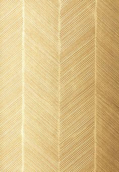 Chevron textur in white/gold wallpaper...I could see this herringbone patter on the back of a built in with glass shelves in front...instant design elevation.