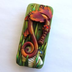Sea Dragon Tin Sewing Needle Case  Polymer Clay by Claybykim