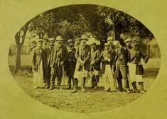 Conde d'Eu e soldados que lutaram na guerra do Paraguai
