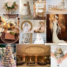 Gold gatsby wedding