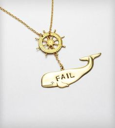 Hoist Fail Whale Necklace By I Adorn U. Best. Twitter. Reference. Ever.