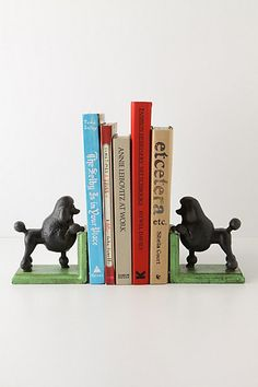OMG I NEED THESE Gomez The Poodle Bookends #anthropologie