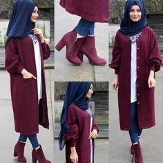 Muslim Women Fashion, Islamic Fashion, Casual Hijab Outfit, Hijab Chic, Abaya Fashion, Fashion Outfits, Abaya Mode, Hijab Stile, Hijab Fashionista