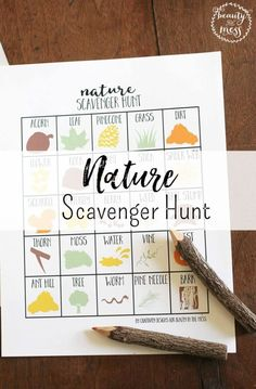 A Nature Scavenger Hunt is a great way to explore the natural surroundings of our home and combine learning with outdoor play.