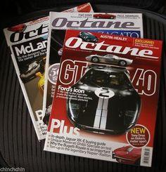 3 Issues OCTANE 2007 Numbers 49 50 51 MAGAZINES JAGUAR XK-E Fiat Dino MCLAREN F1