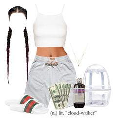 A fashion look from August 2016 featuring Topshop tops, Topshop backpacks and Forever 21 necklaces. Browse and shop related looks. Cute Lazy Outfits, Baddie Outfits Casual, Swag Outfits For Girls, Teenage Girl Outfits, Cute Swag Outfits, Teen Fashion Outfits, Mode Outfits, Retro Outfits, Simple Outfits