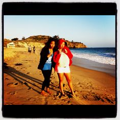 Mommy and Joy at Crystal Cove