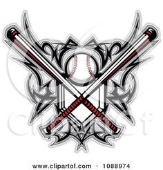softball tattoos | Clipart Tribal Baseball Home Plate With Crossed Bats And Designs ...