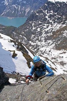 Climbing the via ferrata to Trolltunga, Hardangerfjord, Norway. By Erik Østlie via Flickr