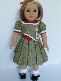 A Christmas Dress for Kit Ruthie Molly and by PeppersDollClothes