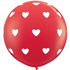 Red Hearts Giant 90cm Balloons (Set of 2)