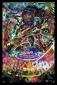 Électrique Jam Tapisserie - Jumbie Art