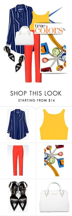 """""""True Colors"""" by pattykake ❤ liked on Polyvore featuring Armani Collezioni, Yves Saint Laurent and Michael Kors"""