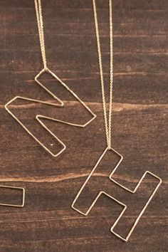 **BESTSELLER** As seen on Heather Dubrow of Real Housewives of Orange County! LOVE these Gauge Letter Necklaces! Lots of Letters Available - $88
