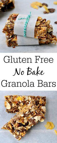 Gluten-Free No-Bake Granola Bars | My Suburban Kitchen