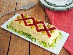 Pastel o sándwich fresco de verano