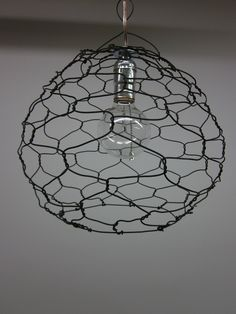 Twisted Wire Hanging Lamp. $120.00, via Etsy.