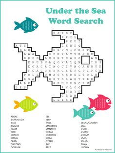 Take a voyage under the sea and revel in all the gorgeous life that is there.  This printable #ocean #wordsearch is enjoyable for kids as well as adults.