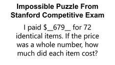 A delightful logic puzzle from the Stanford Competitive Exam (1947)