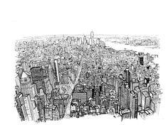 Video: Impresionante time lapse de Patrick Vale dibujando Manhattan