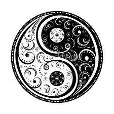 Paisley yin yang.     ♥ Gris Perle Reve♥