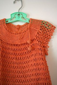vintage 30s girls crochet dress