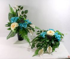 Kompozycja nagrobna,stroik na grób Funeral, Floral Arrangements, Floral Wreath, Wreaths, Flowers, Decor, Floral Design, Floral Crown, Decoration