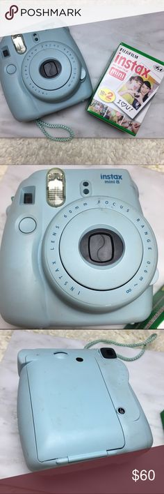 Fujifilm Instax Mini Polaroid and Film Good condition fully functional with flash and wrist strap. Also comes with two packs of 10 sheets of film (20 polaroids). Has some scuffing on camera shown in picture Brandy Melville Other