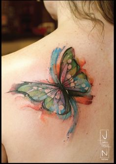 Not a huge fan of butterfly tattoos but this is gorgeous.
