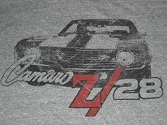 Chevrolet Racing 1969 Camaro Z 28 T Shirt Medium New | eBay