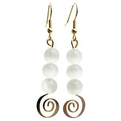 Dazzling Best Collection of Earrings Ideas. Ineffable Best Collection of Earrings Ideas. White Earrings, Circle Earrings, Unique Earrings, Beaded Earrings, Wire Wrapped Jewelry, Wire Jewelry, Beaded Jewelry, Jewelery, Boho Jewelry