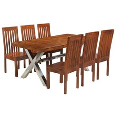 Desks | Keen Solid Wood Dining Set, Wooden Dining Tables, Dining Table Chairs, Dining Room Furniture, Garden Furniture, Garden Dining Set, Dining Room Sets, Elegant Table, Modern Table