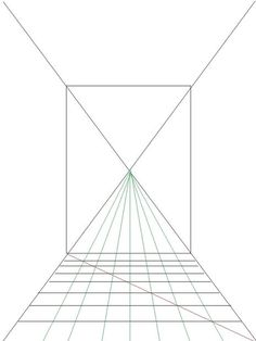 Ao fazer um desenho usando perspectiva de um ponto, você irá aprender a fazer um espaço bidimensional parecer tridimensional utilizandoum ponto de fuga p