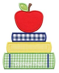 School Books Applique - 3 Sizes! | back-to-school | Machine Embroidery Designs | SWAKembroidery.com Applique Cafe