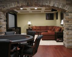 Perfect combination, poker and comfy couch for movies – Perfect Man Cave: Decora… Perfect combination, poker and comfy couch for movies – Perfect Man Cave: Decorating Ideas to Pull Off a Unique Design – Heimkino Systemdienste Man Cave Couch, Man Cave Living Room, Man Cave Designs, Rustic Man Cave, Man Cave Furniture, Furniture Ideas, Small Furniture, Handmade Furniture, Furniture Design