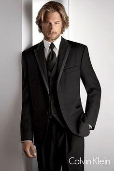 Black Tux for groom